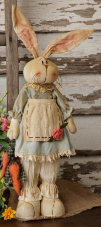 Primitive wood decor,country decor,home decor. Could use my rabbits like this.