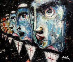 Título: HABEMUS FUCKING PAPAM  ▶ Técnica mixta/collage sobre lienzo 60x50cm. Mas fotos en: http://on.fb.me/pZAl0R COLECCION PRIVADA.  Marzo 2013