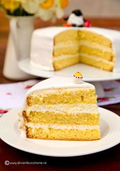 Romanian Food, Vanilla Cake, Food And Drink, Sweets, Candy, Ethnic Recipes, Desserts, Mascarpone, Romanian Recipes