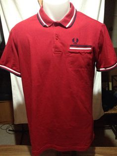 Vintage Red Fred Perry Polo With Pocket by MajorDivision on Etsy