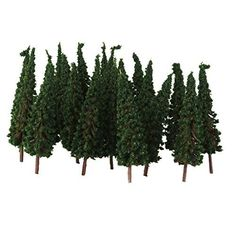 50pc HO Dark Green Model Trees Layout Train Railway Road Diorama Scene 2.56