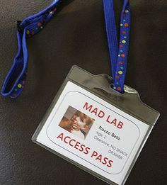 Mad Scientist Party: Mad Scientist ID Badges (via Parents.com)