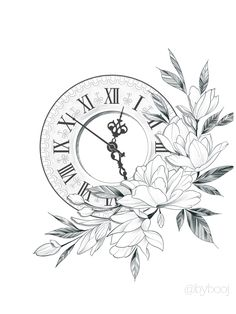 The most popular 30 clock tattoo design ideas for women – Page 2 Baby Tattoos, Leg Tattoos, Flower Tattoos, Sleeve Tattoos, Clock Tattoos, Watch Tattoos, Clock Tattoo Design, Floral Tattoo Design, Doodle Tattoo