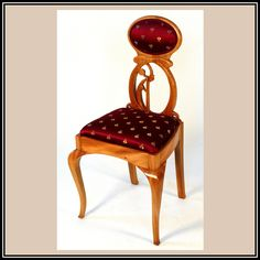 Mahogany Art Nouveau Chair | Heller and Heller Custom Furniture