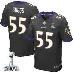 Nike Baltimore Ravens Ed Reed Elite Black Men Super Bowl XLVII NFL Stitched  Jersey 649f9665d