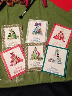 I tried my hand at some Christmas cards