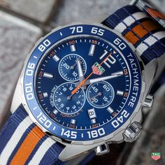 TAG Heuer‏  Let your motoring spirit loose with the striking TAG Heuer Formula 1 Chronograph Nato Strap! Find it: http://tag.hr/Formula1Nato