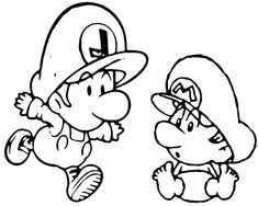 mario coloring pages as babies - photo#7