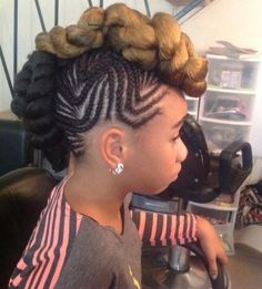 Black girls braided Mohawk hairstyles:  Do you want to go a little wild with your hairstyle yet looking cute and sexy; Braided Mohawk Hairstyles will be the way to go. Braided Mohawk hairstyles for black girls look really cute, amazing and will leave whoever spots you walking down the streets or at the party staring at you......