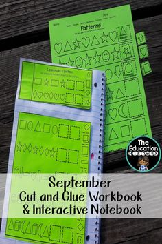 September cut and glue workbook and an interactive notebook of monthly concepts…