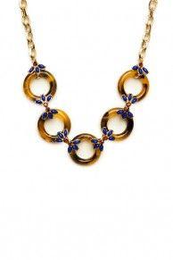 Lela Tortoise Necklace in Blue