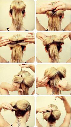 ** SupER dUPer easy bOW hAIR **  Bow hair tutorial