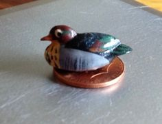 Vintage Miniature Duck Bird Duckling Mallard Collectible Small Tiny Knick Knack Mini Sculpture Hunting by MarveltyVintage on Etsy