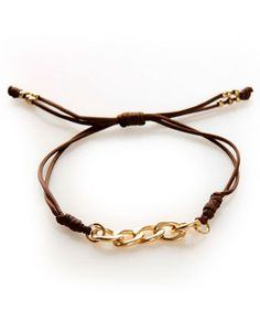 Link Out Loud Brown and Gold Friendship Bracelet-I make these too! This is beautiful!