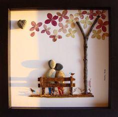 Unique Wedding Gift, Engagement Gift, Anniversary Gift, Couple's Gift, Love Gift, Retirement Gift, Pebble Art by MedhaRode on Etsy