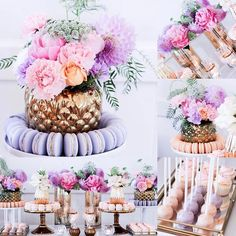 """121 Likes, 4 Comments - EVENT STYLING TIPS & VIDEOS (@eventsbyrozy) on Instagram: """"I'm loving this peach and lavender color combo 💜 styled by @sweeteventstylingbythanhtran"""""""