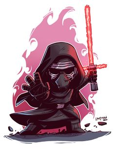#chibi #kyloren #dereklaufman #deviantart #comic #comicart #graphicart #illustration #geek