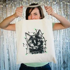 Meowie Christmas Tote now featured on Fab.