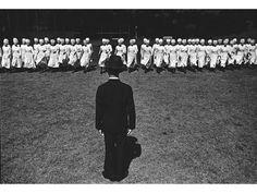 Photographer: Ken Domon. Japanese nurses mysteriously marching