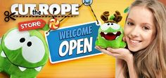 Great news, Cut The Rope fans! We've officially launched our online store, where you can find Om Nom toys and other goodies! Shipping to the USA only right now; other countries coming soon! https://shop.cuttherope.net/