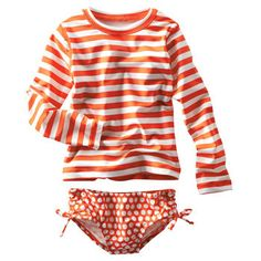af2c633c11 2-Piece Striped Rash Guard Set Boys Swimwear, Girls Swimming, Rash Guard,