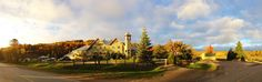 A sunset panorama of the Calabogie Peaks Hotel in October Photo by Tomoki Onishi. Autumn Summer, Fall, Spring, Adventure Activities, Sidewalk, October, Country Roads, Sunset, Autumn