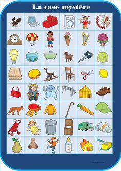 - Jeu en autonomie : déplacements sur quadrillage Home Learning, Toddler Learning, Bingo, Diy Games, Activity Games, Kindergarten Activities, Pattern Blocks, Geometric Shapes, Board Games