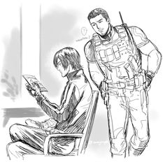 Leon and Chris Game Character, Character Design, Resident Evil Anime, Resident Evil Collection, Autumn Witch, Leon S Kennedy, Anime Dad, The Evil Within, Cute Funny Animals