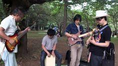 代々木公園でベースソロ対決?フラストレーションセッションしてみた!