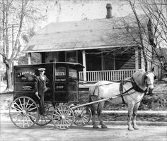 A deliveryman for Harding's bakery of Hay Mills and Yardley, driver of the handsome horse Bullet, in Byron Road, Small Heath, circa City Of Birmingham, Birmingham England, Freeport Illinois, English Architecture, The Second City, Horse And Buggy, Old Street, West Midlands, Historical Pictures