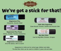 Love our Magnesium Sticks.easy, portable and lasts a long time! Topical Magnesium, Magnesium Benefits, Healthy Skin Care, Healthy Life, Tension Headache, Herbal Oil, Muscle Tension, Lotion Bars, Natural Skin Care