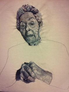 Final - VCE ART - embroidery of my grandmother #embroidered #portrait