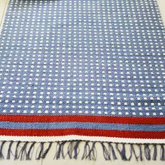 Gudrun Sjoden- Swedish design with a green soul. This lovely weave would look lovely in the bathroom. For happy toes. Swedish Weaving, Swedish Design, Weaving Patterns, Recycled Fabric, Nordic Style, Rugs In Living Room, Woven Rug, Soft Furnishings, Fiber Art