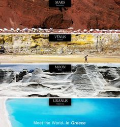 Μια απίθανη φωτογραφία με τις μοναδικές ομορφιές της χώρας μας κάνει το γύρο του Facebook δείχνοντας τις μοναδικές ομορφιές του τόπου μας. Τα πανέμορφα ελληνικά τοπία δεν συγκρίνονται με τίποτα άλλο στη Γη - ούτε κάν με άλλους πλανήτες. Με αυτό το σκεπτικό ένας χρήστης στο Facebook έφτιαξε μια εικόνα με απίθανα τοπία που θυμίζουν εξωγήινο τοπίο. «Γνωρίστε τον κόσμο στην Ελλάδα», αναφέρει η λεζάντα της φωτογραφίας που δείχνει τοπία [...]