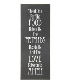 Loving this 'Thank You for the Food' Wall Sign on #zulily! #zulilyfinds