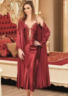 Pyjama Satin, Satin Nightie, Satin Sleepwear, Satin Gown, Sleepwear Women, Satin Dresses, Nightwear, Pretty Lingerie, Beautiful Lingerie