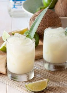 Best make a refreshing, tropical Coconut Pineapple Margarita to share with your friends.