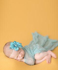 Look what I found on #zulily! Aqua Wrap & Flower Headband by Ella's Bows #zulilyfinds