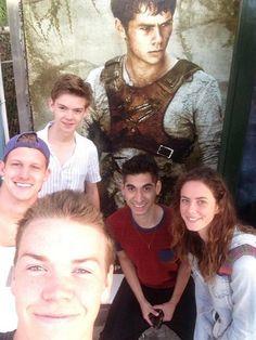 El Cast.. Will, Kaya, Alex, Chris, Thomas y Dylan ...