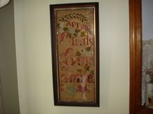 Victorian Vertical Punch Paper Motto Sampler CLOUDS THEN SUNSHINE Needlepoint