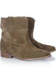 Isabel Marant Crisi leather concealed wedge biker boots