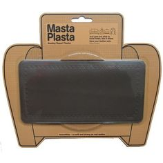 Amazon.com: MASTAPLASTA peel and stick repair patch for holes, rips and stains in car seats, sofas, bags and leather jackets. 8 by 4 inches PLAIN STRIP DESIGN/BROWN: Arts, Crafts & Sewing