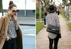 Blusa rayas negras y blancas