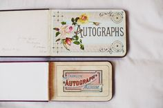 Who remembers buying an autograph book in elementary school instead of a yearbook?!!!