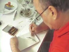 ▶ Porcelain Painting with Pablo Acosta Gempeler, Colombia - YouTube - China Painting - Hummingbird