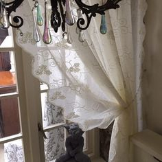 Lace curtain panels  beautifully embroidered by JainSavoirFaire