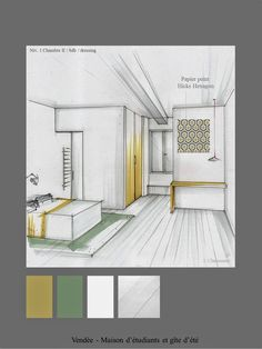 Give Your Rooms Some Spark With These Easy Design Tips – Decoration Inspired Interior Architecture Drawing, Architecture Concept Drawings, Interior Design Sketches, Interior Rendering, Interior Design Inspiration, Architecture Design, House, Home Decor, Autocad Layout
