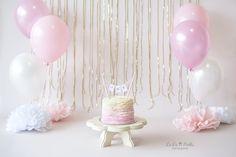 Okinawa Child Photographer, Okinawa, Japan, Cake Smash Session, First Birthday, Pink Ruffle Cake, La La Noble Photography