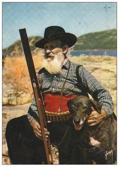 chasseur corse et son chien le cursinu