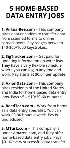 Data Entry Jobs from Home Can Earn You Substantial Money omputers and Internet has opened up various avenues of earning money online. One of the extensively used methods is data entry jobs from home. Legit Work From Home, Work From Home Jobs, Earn Money From Home, Way To Make Money, Voters List, Home Based Jobs, Work From Home Opportunities, Marca Personal, Thing 1